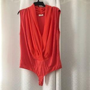 Orange Eva Mendez Large Body Suit/ Bodysuit